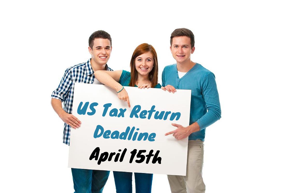US Tax Return Deadline on April 15th