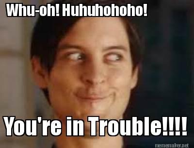 trouble meme