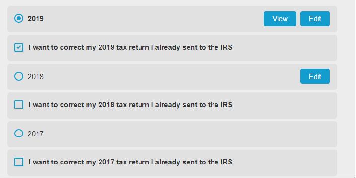 I want to correct my 2019/2018/2017 tax return I already sent to the IRS